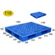T10双面网格面塑料托盘